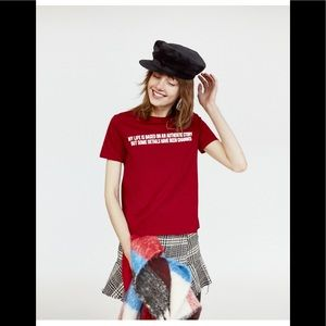Zara TFL maroon t-shirt